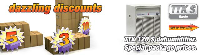 Trotec TTK 120 S dehumidifier super package deal