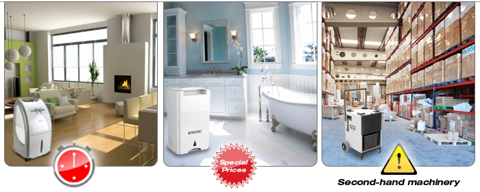 Three campaigns for special-priced dehumidifiers