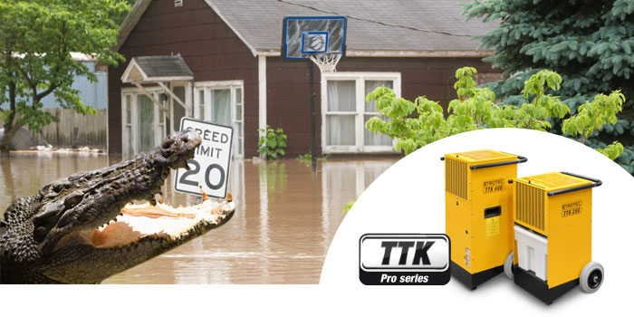 fighting the flooding with trotec dehumidifiers and building dryers