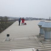 On the roof of the hotel