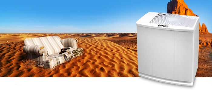 Humidifier in a desert