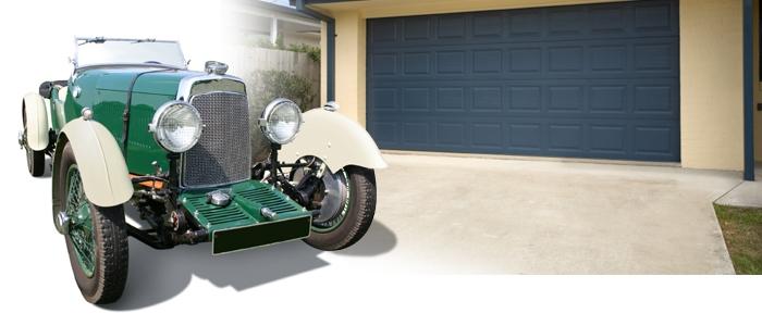 oldtimer in garage
