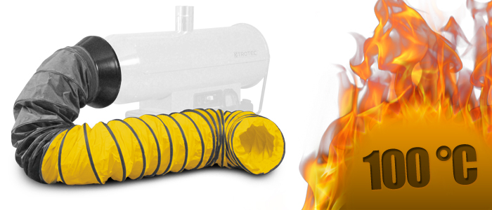 Flexible heat resistant hoses