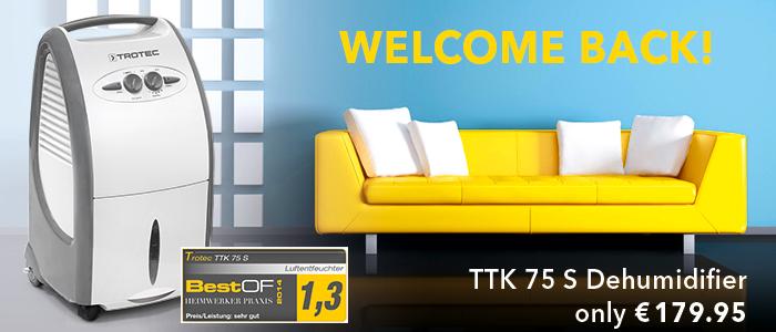 TTK 75 S Dehumidifier