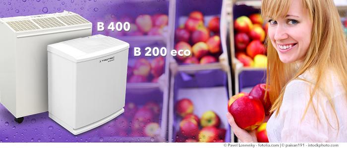 Luftbefeuchter Obst und Gemüse