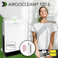 "NEW AirgoClean® 100 E Design Air Cleaner: fully automatic HEPA air cleaning with ""Triple Protection"" filter technology – finally available again"