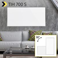 TIH 700 S: Infrared Heating Panel: flexible heating alternative for living rooms and work spaces, as effective spot heating for drying walls – available again