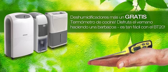 Nuestros deshumidificadores y el termómetro de penetración en nuestra tienda online.