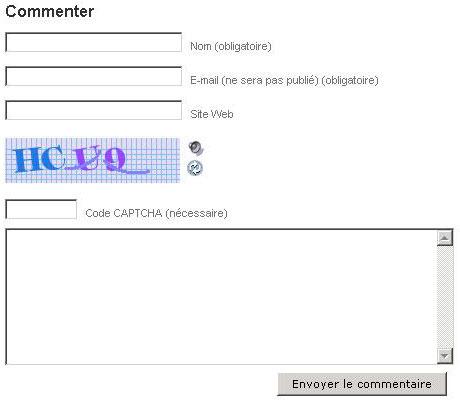 Entrez votre nom et votre adresse e-mail puis tapez le code secret affiché pour pouvoir laisser votre commentaire.