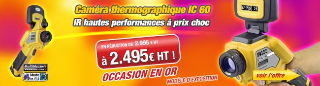 Modèle d'exposition de la caméra thermographique IC 60