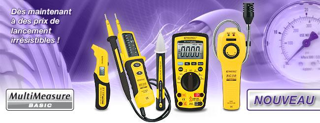manomètre, testeur de sécurité, testeur de phase, multimètre et détecteur de gaz MultiMeasure