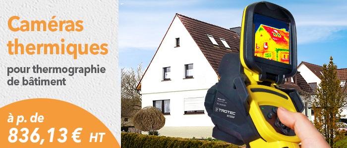 caméras thermiques Trotec pour thermographie de bâtiment et maintenance