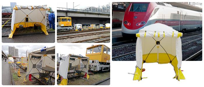 Tentes de montage Trotec pour la SNCF