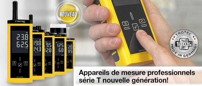 Thermo-hygromètres professionnels T210 et T260 | Humidimètres professionnels T510, T610 et T660