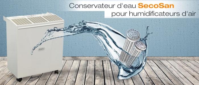SecoSan, la cartouche aux ioins argentiques pour la conservation de l'eau