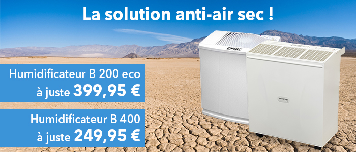 humidificateurs d'air hautes performances Trotec B 200 et B 400