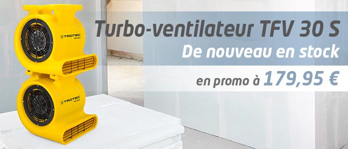 Ventilateur turbo professionnel TFV 30 S de Trotec