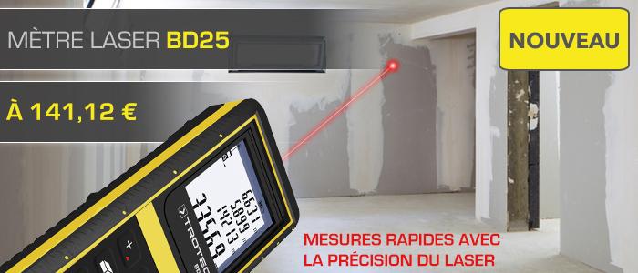 nouveau télémètre laser Trotec BD25 d'une portée de 100 mètres