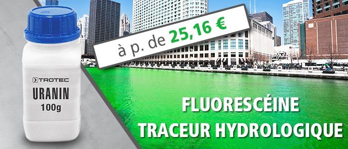 fluorescéine pour repérage de cours d'eau et recherche de fuite