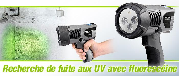 équipement de recherche de fuite   fluorescéine   lampe torche uv