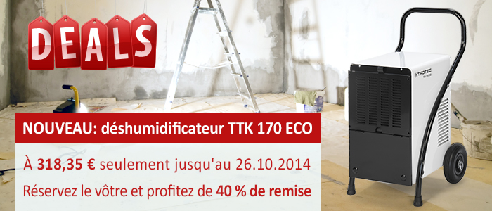 nouveau déshumidificateur professionnel Trotec TTK 170 ECO