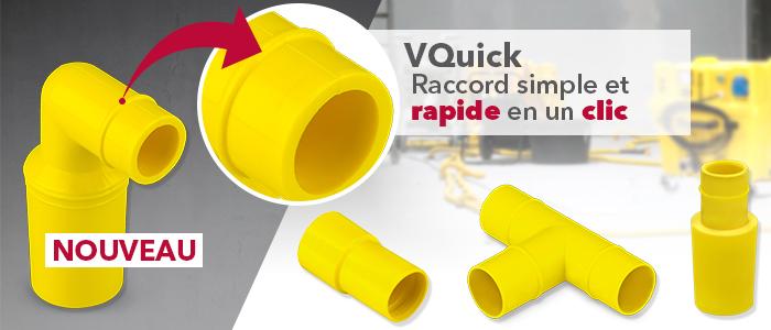raccords rapides VQuick Trotec pour chantiers de séchage avec turbine et séparateur d'eau