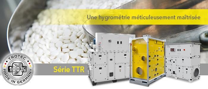 déshumidificateurs d'air pour industries chimique et pharmaceutique