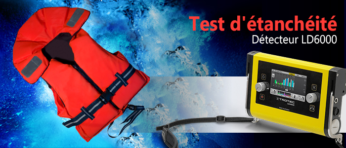 détecteur ld6000 pour test d'étanchéité sur combinaisons de protection et gilets de sauvetage