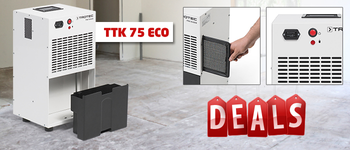 robuste déshumidificateur semi-professionnel ttk 75 eco