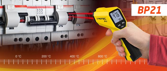 nouveau thermomètre infrarouge pyromètre Trotec BP21
