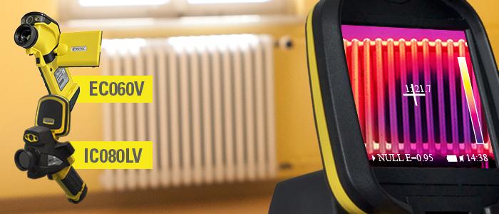 Caméras thermiques Trotec EC060V et IC080LV pour installateurs sanitaires et chauffage