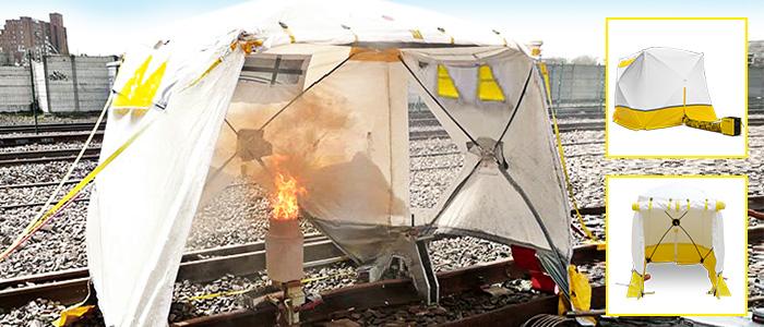 tentes de chantier pour travaux ferroviaires