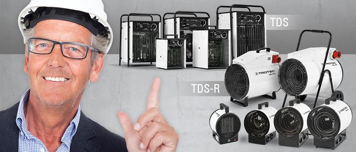 aérothermes électriques mobiles trotec tds