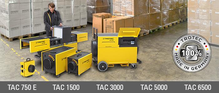 déshumidificateur d'air et épurateur d'air mobile pour conditions de stockage idéales