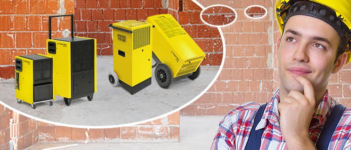 déshumidificateurs de chantier, matériel professionnel Trotec