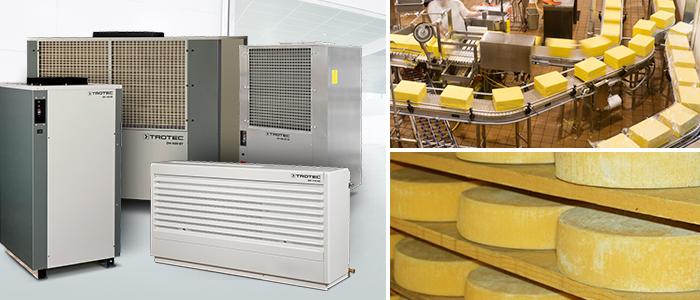 déshumidificateurs Trotec série DH pour fromagerie et centre fromager