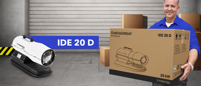 promotion chauffage fioul mobile professionnel 20 kW IDE 20 D Trotec