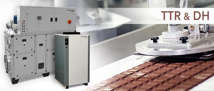 déshumidificateurs trotec TTR DH pour confiserie et chocolaterie industrielles