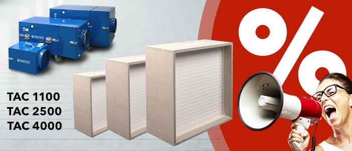 filtres à prix réduit pour purificateurs d'air Trotec de la série TAC