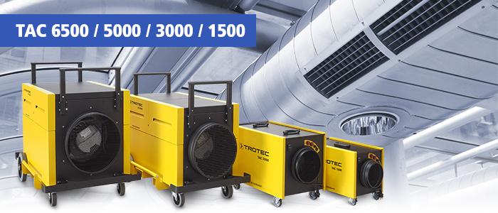 épurateurs d'air tac trotec pour nettoyage de systèmes de ventilation