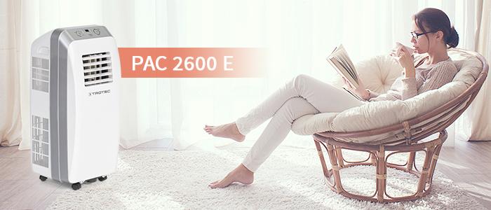 climatiseur monobloc pour 32 m² max. | pac 2600 e