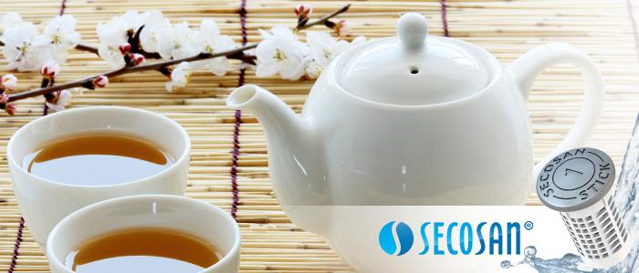 préparer son thé avec de l'eau qui reste fraîche avec SecoSan