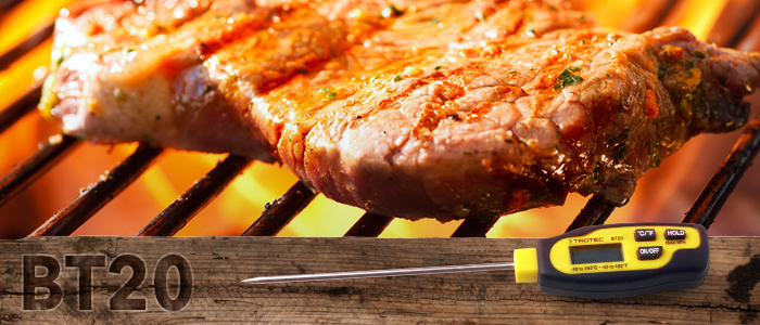 thermomètre trotec bt20 pour la température à coeur de la viande