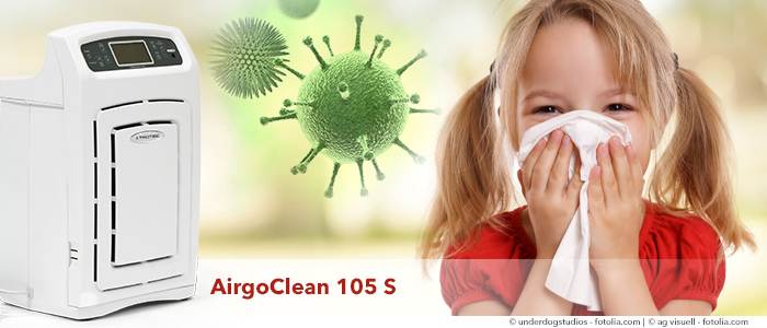 Purificateur d'air AirgoClean 105 S contre les pollens