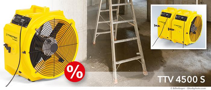 Ventilateur de chantier TTV 4500 S