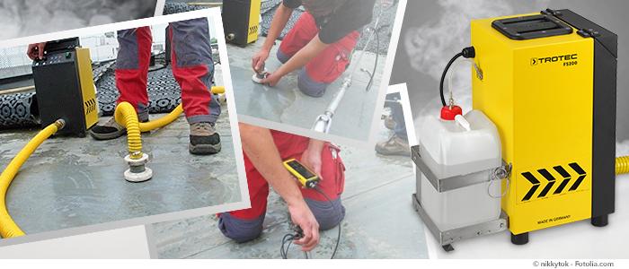 générateur de fumée fs200 trotec pour la recherche de fuite sur toit plat