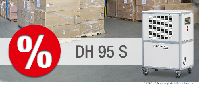 les déshumidificateurs industriels d'occasion comme le DH 95 S de Trotec sont en parfait état technique