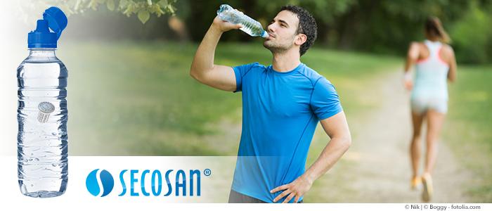 une eau propre et fraîche pendant le jogging