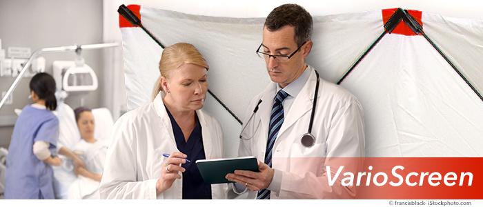 protéger l'intimité des patients pendant les urgences à l'aide d'un écran cache-victimes