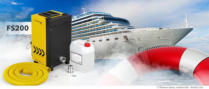 générateur de fumée fs200 pour exercices d'évacuation en mer